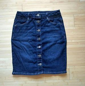 Jolt Jeans Denim Button Up Skirt